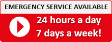 24 hour emergency service.